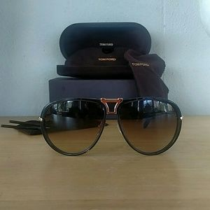 Tom Ford Robbie FT 286 52A Sunglasses with Clip on